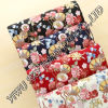 Fashion Big Flower Designs for Ladies Dress Printing Microfiber Fabric