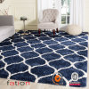 100% Polyester Navy and Ivory Area Rug