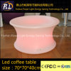 Color Changing Plastic LED Furniture LED Circular Coffee Table
