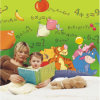 L2-00024 Green Naturalal Wall Mural Paper for Kids Room