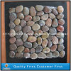 Natural Pink Pebble Stone on Mesh for Indoor Decoration