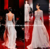 2014 Evening Dress See Through Top Sexy Bridal Wedding Dress Zuhairmurad Long Sleeves Backless Prom Party Gown E13174