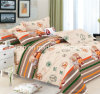 100% Cotton Fabric 4 PCS Bedding Set with Fashion Design