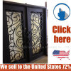 Cheap Price Steel Entrance Wrought Iron Door