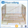 Welded Industrial Folding Rolling Wire Mesh Pallet Cage