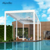 Customized Size Aluminum Pergola with Louver Blades and Blinds