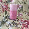 Layer Pink Pillar Candle for Christmas Gift