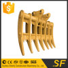 China Supplier Excavator Parts Fit PC200 Root Rake Rake for Excavator