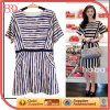 High End Stripe Summer Satin Dress (wzsd-405-003)