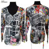 2015 Sprint/Autumn New Style Fashion Ladies Knitted Digital Printing Clothes (P-01-706)