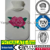 CE Knit White Flower Hot Water Bottle Cover