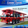 2-3 Axle 35-60 Tons Flatbed Skeleton Container Flat Lowbed Semi Trailer (20′&40′)