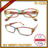 R-1039 Special Designed Flower Pattern Slim Style Reading Glasses