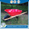 6 Cu. FT. Heavy Wood Handle Construction Heavy Duty Wheel Barrow