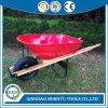 6 Cu. FT. Heavy Wood Handle Construction Heavy Duty Wheel Barrow