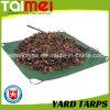 8 X 8 Yard Tarps, Drawstring Yard Tarps, Green/Black Garden Leaf Tarps