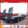 Mechanical Ramp Vehicle Transport Tri-Axle Lowbed Semi Trailer