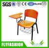 College Wooden School Student Chair with Writing Pad