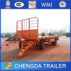 China Best Price Tri Axles Flatbed Draw Bar Full Trailer for Sale