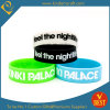 Recessed Color Filled Silicone Wristband at Factory Price From China