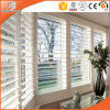 Aluminum Louver Window Combined with Casement Window, Double Glazing Tempered Glass Louver Window with a Good Ventilation