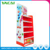 Recycled Folded Floor Paper Retail Display Stand Exhibition Rack