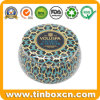 Metal Seamless Oval Shaped Scented Candle Tin Box Set
