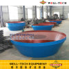 Small Investor Gold Grinding and Recovery Machine Wet Pan Mill