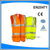 Reflective Waistcoat Safety Vest Polyester Knitted with High Reflective Tape