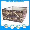 2017 Popular Non-Woven Brown Flower Printed Storage Bag Box Foldable Box