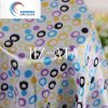 Wave Point Printed Polyester Satin Fabric