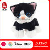 Popular Big Eyes Small Black Cat Stuffed Plush Animal Toy