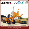 Chinese 8 Ton Wheel Loader with Log Grapple for Sale