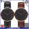 Yxl-477 Fashion Dw Style Couple Waterproof Watch Men′s Miyota Japanese Movement Stainless Steel Case Genuine Leather Band Wrist Watch Men Women