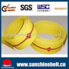 Green and Yellow China Hot Sell Nylon Flat Transmission Belt