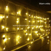 Warm White Christmas Outdoor Decoration 4m Droops Curtain Icicle String LED Lights New Year Garden Xmas Wedding Light