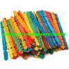 Colored Grooved Wooden Ice Cream Sticks