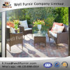 Well Furnir 4-Piece Patio PE Rattam Dining Sofa Chat Set