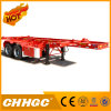 2axle Light Duty Skeleton Container Semi Trailer