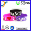 Colorful Silicone Wristband Embossed Inspirational Bracelet