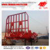 40FT Flatbed Semi Truck Trailer with Pins for Timber Transportation