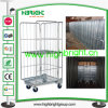 Heavy Duty Steel Rolling container Wire Roll Cage Trolley