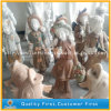 White Red Marble Art Girls Carving Statue / Sculptures for Garden