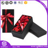 Customized Luxury Flower Cardboard Ribbon Gift Box