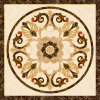 Flower Pattern Carpet Tile Polished Crystal Ceramic Floor Tile 1200X1200mm (BMP43)
