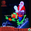 Chritmas 3D 220V Acrylic Santa Claus Deer Motif Light for Xmas Decoration