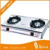 Stainless Steel Double Burner Gas Stove, Blue Fire (JP-GC206)