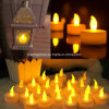 Yellow Float LED Tealight Candles for Xmas Decor Battery Operated