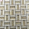 Good Price Gold Color Glass Mixed Stone Mosaic for Interior Wall