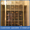 Laser Cut Stainless Steel Folding Screen Decoration Partiton Divider for Room